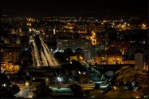 Cosenza: panorama notturno