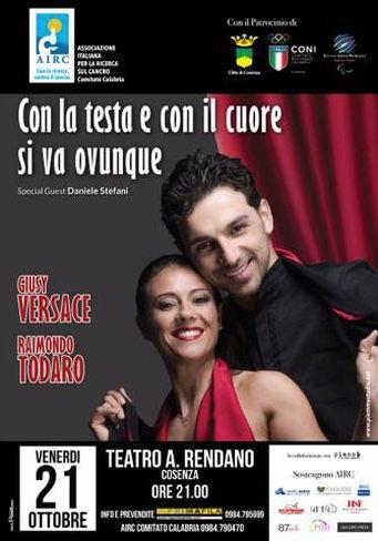 Giusy Versace e Raimondo Todaro a Cosenza per Airc