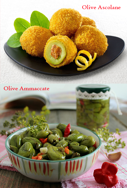 Olive ammaccate vs olive ascolane